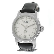 Mens Unisex Oris 7501 Big Crown Day Date Stainless Steel 34MM Automatic Watch