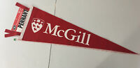 "McGill UNIVERSITY Montreal Quebec Canada Felt Pennant 28"" Long Free Shipping"