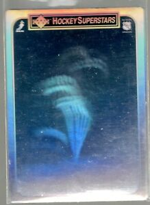 1990/91 UPPER DECK HOCKEY SUPERSTARS HOLOGRAM STEVE YZERMAN #9