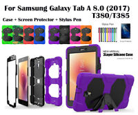 "Heavy Duty Shock Proof Survivor Case For Samsung Galaxy Tab A 8.0"" T380/T385"