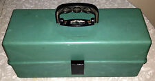 FISHING TACKLE BOX PLANO PL30 VINTAGE 60s GREEN NICE-CONDITION MULTI-COMPARTMENT