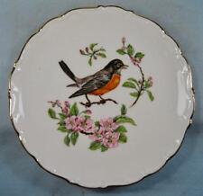 Red Breasted Blackbird On Twig Decorative Plate By Schumann Bavaria L & R (O2)