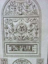 Arabesque Jean d'udine XIVéme architecture décoration détail GRAVURE XIXéme