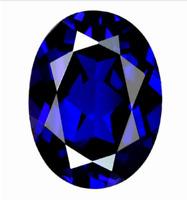 Blue Zircon 10x12mm 4.62Ct Oval Cut AAAAA VVS Loose Gemstone