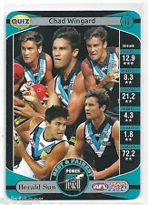 2014 Teamcoach Herald Sun Quiz (13) Chad WINGARD (What is the name of....)