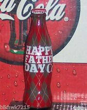 2012 WORLD OF COCA COLA HAPPY FATHER'S DAY  8OZ COCA - COLA GLASS BOTTLE
