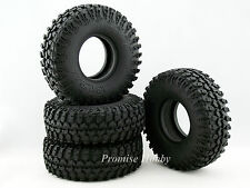 114mm OD crawler tire tyre set w/ foam for 1.9 wheel 1/10 rc crawlers cars -4pcs