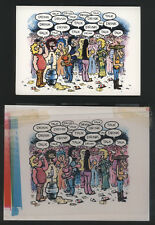 """1980 Gilbert Shelton """"Freak Bros."""" Note Card with Color Printing Overlay - FINE"""