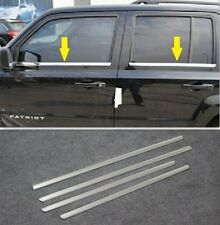 For Jeep Patriot 2007-2017 Stainless steel Window Trim sill line Chrome Molding