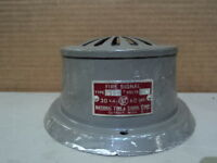 Vintage Audible Signal Fire Alarm Type 411 National Time & Signal Corp w/o plate