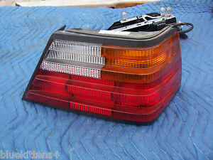 1992 400 E 500 SERIES RIGHT TAILLIGHT OEM USED Cracked Lense MERCEDES BOSCH 1993