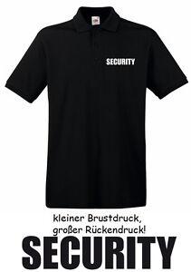 5 Stck. SECURITY - Polo-Shirt, schwarz, Gr. S - XXXL