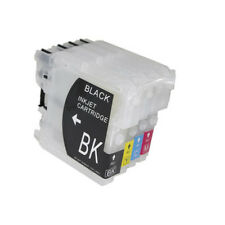Brother LC970 LC1000 - 4 x Cartouches Rechargeables non-oem★★★