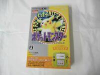 L169 Nintendo New 2DS console Pokemon Pikachu Clear Yellow Japan w/box REAR