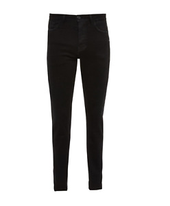 Ex Primark Black Super Stretch High Waisted Skinny Jeans All Sizes (W1.11)
