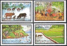 Laos 1993 Nature Protection/Wildlife/Birds/Elephant/Ox/Cattle/Fire 4v set b8574