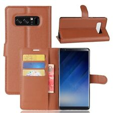 Funda protectora marrón para Samsung Galaxy Note 8 n950f potada del libro