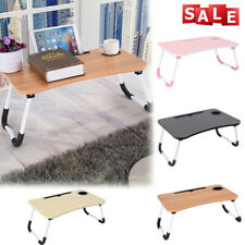 Portable Folding Lazy Laptop Table PC Computer Desk Stand Bed Sofa Tray W/Drawer