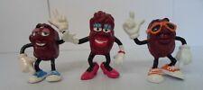 Rare California Raisin PVC Characters - Lot of 3 - Applause