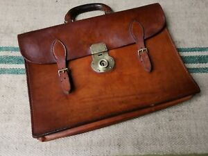 A Fine Pendragon Papworth Tan Leather Briefcase
