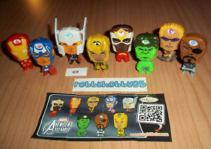 MARVEL AVENGERS ASSEMBLE COMPLETE SET WITH ALL PAPERS KINDER SURPRISE 2015