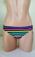 California Waves striped bikini bottom size S multi color