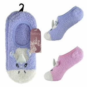 Ladies Unicorn Slipper Socks Soft Casual Home Regular Relax Lounge Wear ONE SIZE