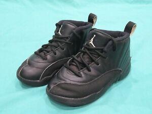 Nike Air Jordan 12 XII Rétro The Master Noir BT 850000-013 Chaussures Bébé 7C 7