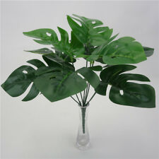 Artificial Green Monstera Palm Tree Leaf Simulation Plant Home Decor Plastic