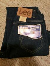 Lee Student Rider 25x32 Straight Leg High Waist Dark Denim Jeans Deadstock Vtg