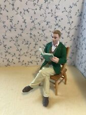 More details for 1:12 scale sitting man/father reading, modern resin figure dolls house