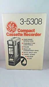 GE Compact Cassette Player Recorder w/ Microphone 3-5308 NEW NIB