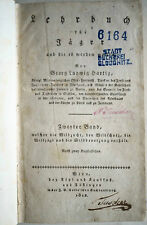 Georg Ludwig Hartig Lehrbuch für Jäger, Jagd, Lehrbuch Jagd,