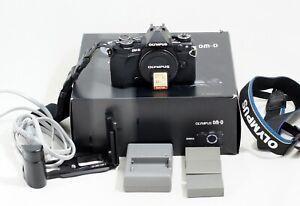 OLYMPUS OM-D E-M5 MARK II BLACK DIGITAL DSLR CAMERA MFT BODY ONLY 16K SHUTTER