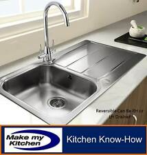 Rangemaster Glendale 1.0 Single Bowl Stainless Steel Kitchen Sink GL9501