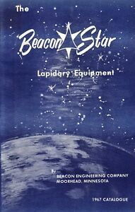 THE BEACON STAR  LAPIDARY EQUIPMENT Catalog 1967 in mint condition