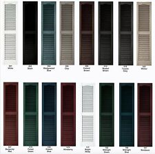 "Vinyl Shutters, Cathedral Louver Exterior, 52""- 60"", Lifetime Warranty"