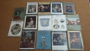 Collection job lot of  14  Connoisseur Magazines from 1900's to 50's