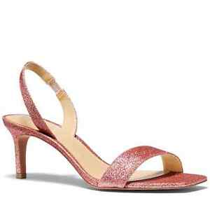 Michael Kors Mila Pixie Pink Fine Glitter Sandal NEW WIth Tags 7.5 MSRP-$99