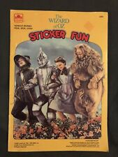 Wizard of Oz Sticker Fun by Golden Books #2295