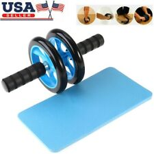 Ab Roller Wheel Knee Pad Workout For Abdominal Exercise Dual Fitness Equipment