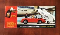 1967 1968 Porsche 911, 911L & 912 Tourist Delivery Brochure - Red Cover