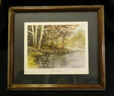 """James D. Werline 1987 Limited-Edition Offset Lithograph """"Drew's Hideaway"""" Matted"""