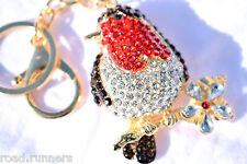 Robin Keyring CHRISTMAS Charm Diamante Rhinestone Charm NEW