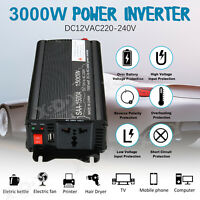 1500W / 2000W / 3000W Solar Power Inverter DC 12V to AC 220V Car Sine Converter
