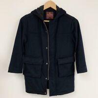 Brooks Brothers Loro Piana Wool Hooded Coat Sz S
