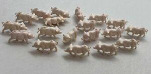 Miniature Pigs Pink Plastic Tiny Small Farm Barnyard Animals
