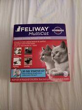 Sealed! Feliway MultiCat 30 Day Starter Kit 48 ml Diffuser + Refill exp 01/21