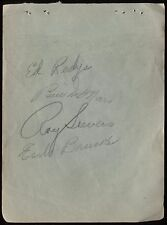 1950 St Louis Browns Signed Album Page Baseball Earle Brucker Autographed AUTO