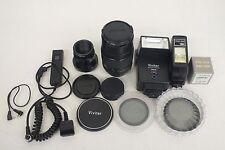 Mixed Lot Camera Gear JC Penney 1:2.8 f=135mm Lens Vivitar 2800 Flash Filters ++